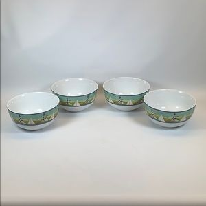 Gibson lighthouse sailboat soup cereal bowls set 4